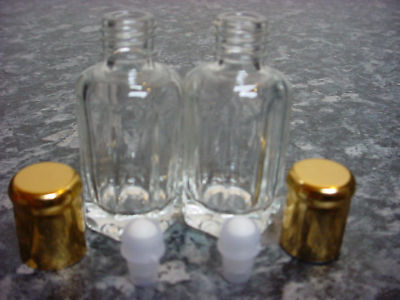 2 x 12ml Empty Glass Bottles For Perfume Oil Itr Attar