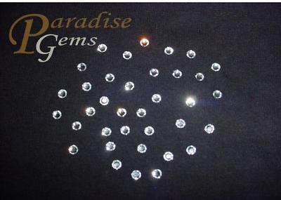 72 Swarovski 2028 CLEAR CRYSTAL Hotfix Flatback Rhinestones SS20 Iron on 5mm